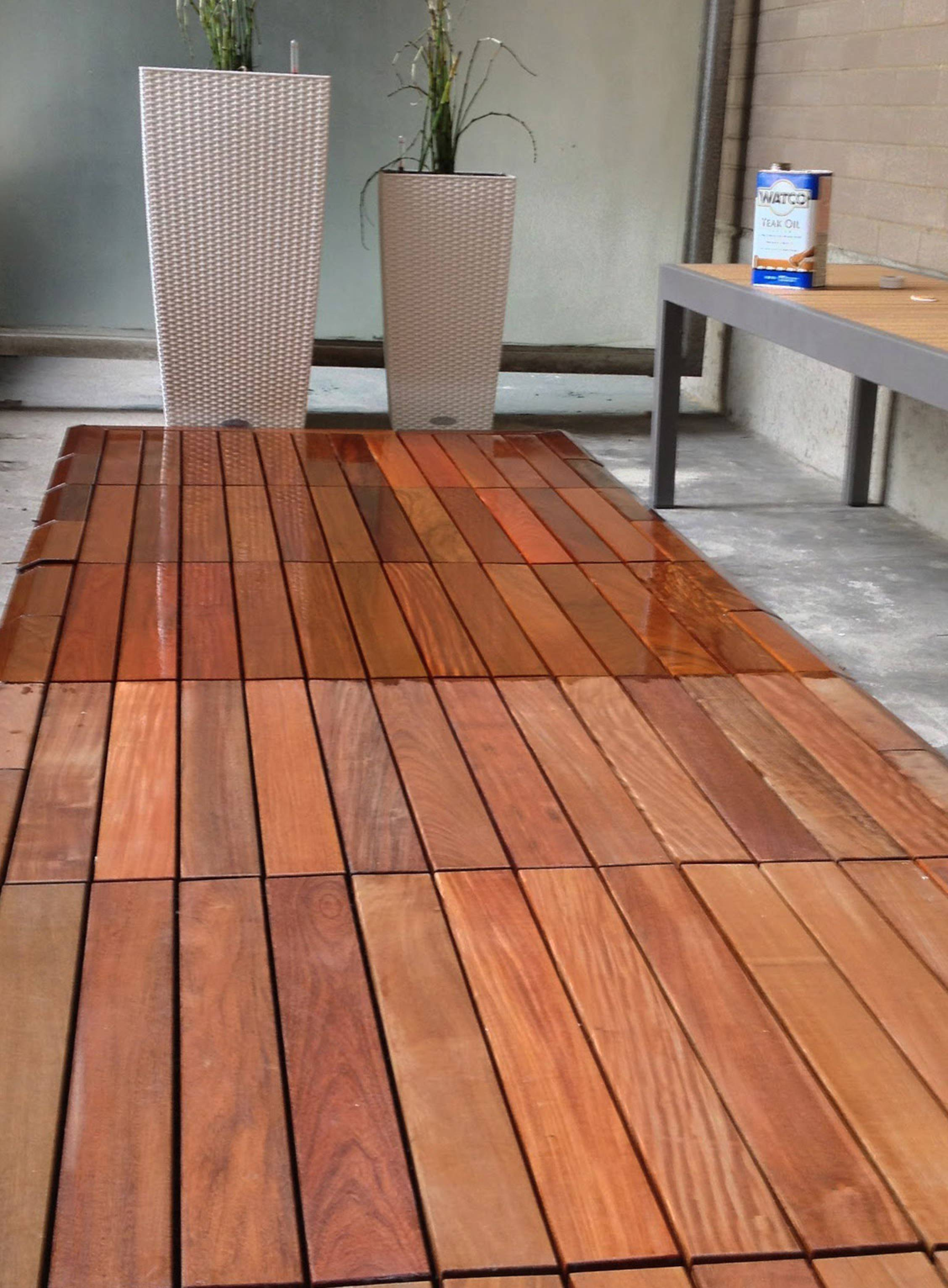 how to finish ipe decking