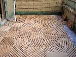 IPE Decking Squares Indoors