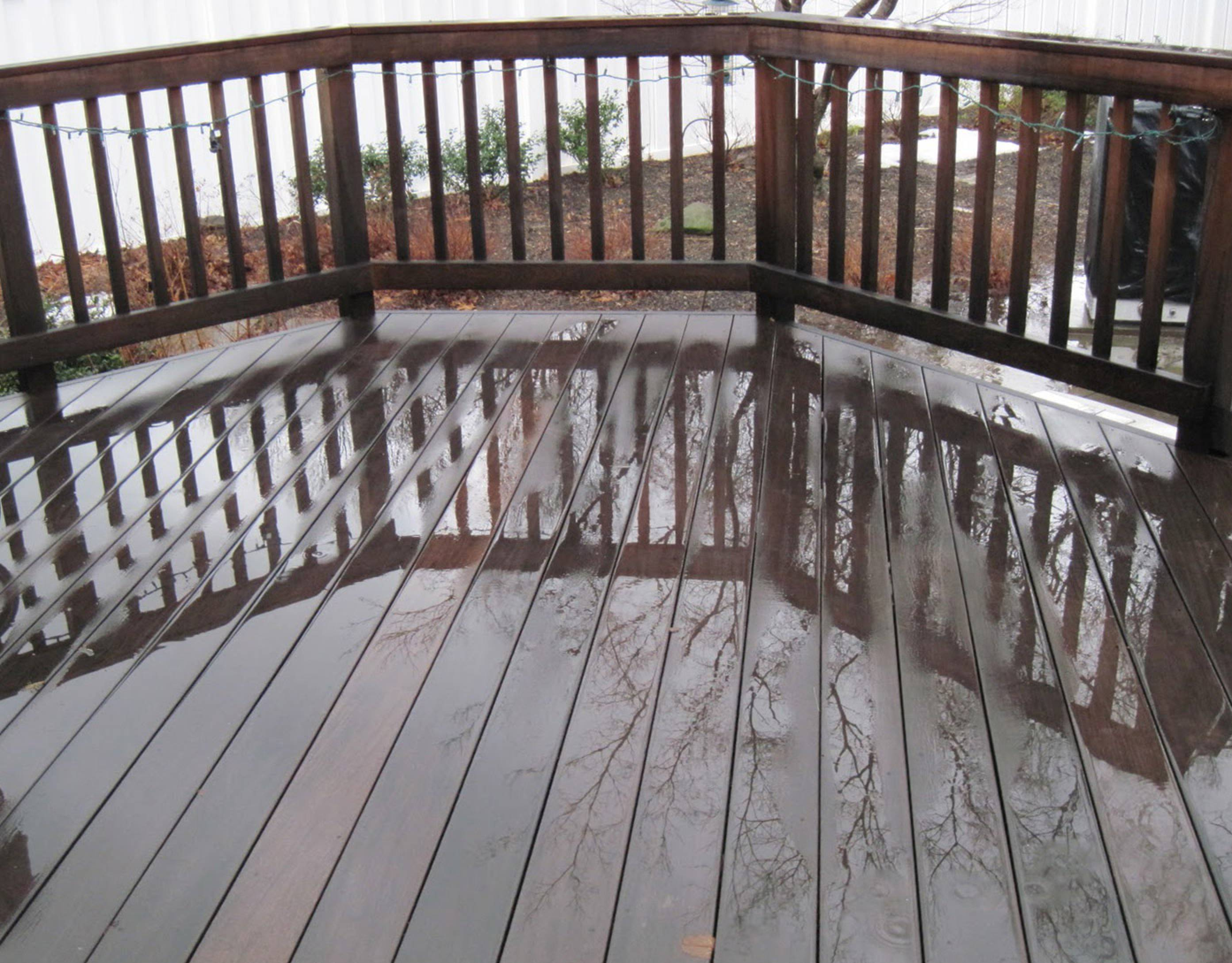cleaning ipe decking